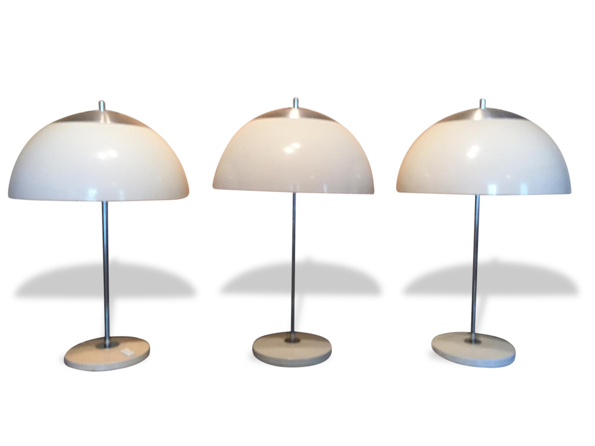 Lampe Champignon Vintage Unilux - Plastique - Blanc - Design - 17382