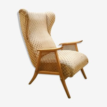 Chair wing chair has ears and has system relaxation 50/60s