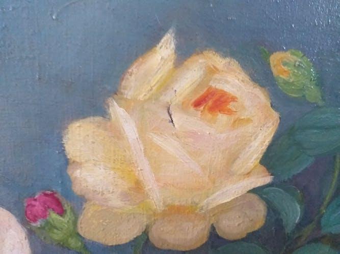 Ancien tableau naïf Lucien Le Guern