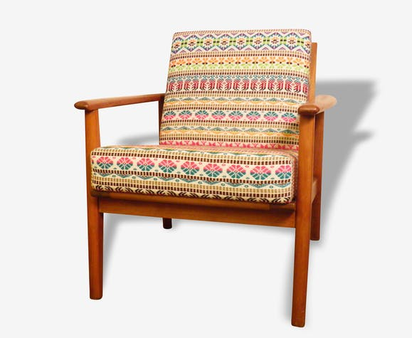 Fauteuil  Scandinave _ textile Multico Floral