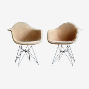 Lot de 2 fauteuils DAR par Charles & Ray Eames pour Herman Miller par Zenith Plastic Company, des années 1950