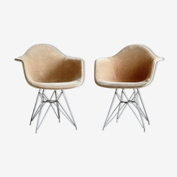 Set Of 2 DAR chairs by Charles & Ray Eames for Herman Miller by Zenith Plastic Company, 1950s