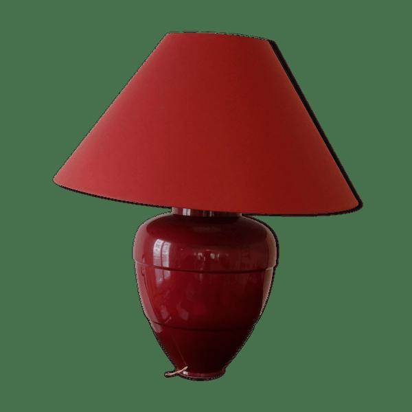 Lampe de table Roche Bobois rouge - céramique, porcelaine et faïence -  rouge - bon état - vintage - P94AJSQ9