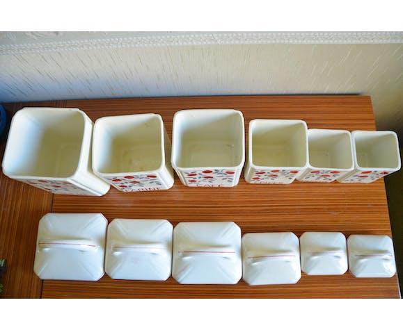 Lot de 6 pot à épices en porcelaine