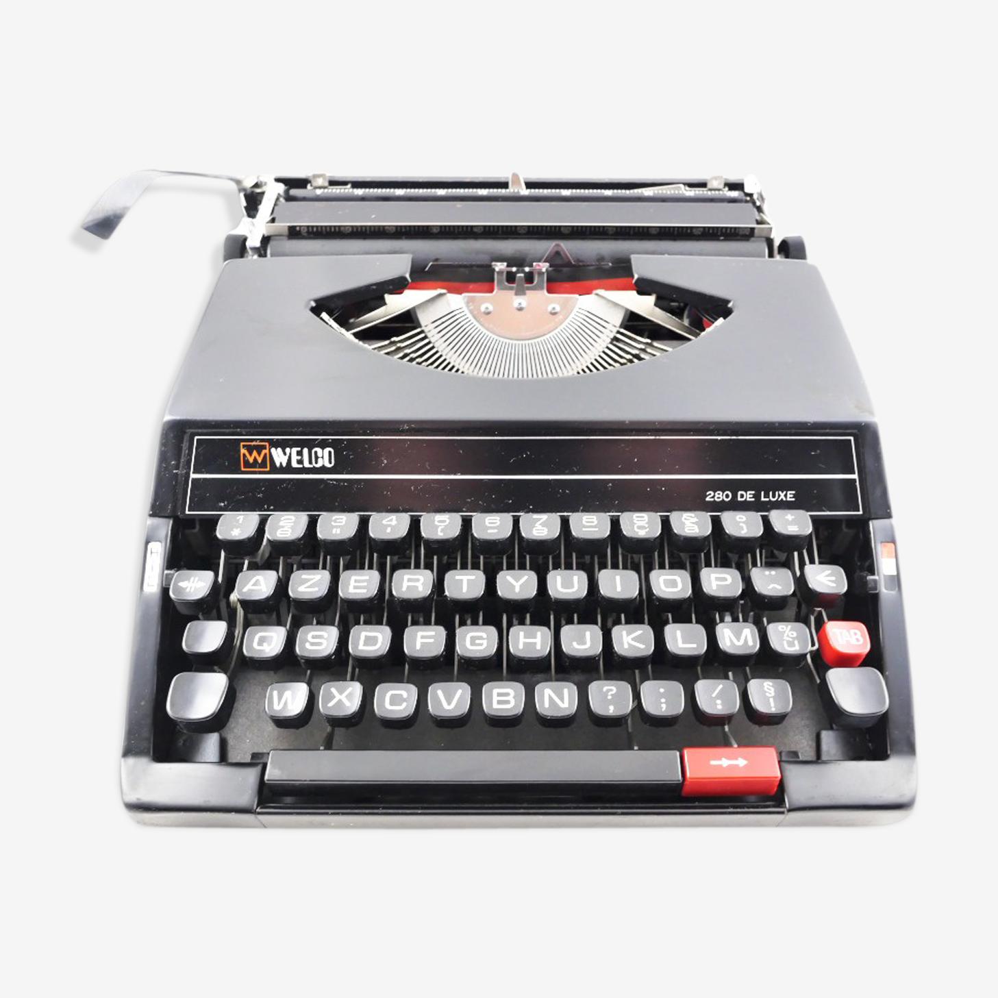 Machine à écrire SR280 Welco vintage révisée avec ruban neuf