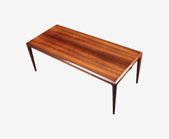 Table à café extensible XL bois de rose brésilien du milieu du siècle par Johannes Andersen pour CFC Silkeborg