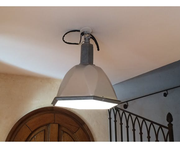 Taylor-faced industrial hanging lamp 1950/60