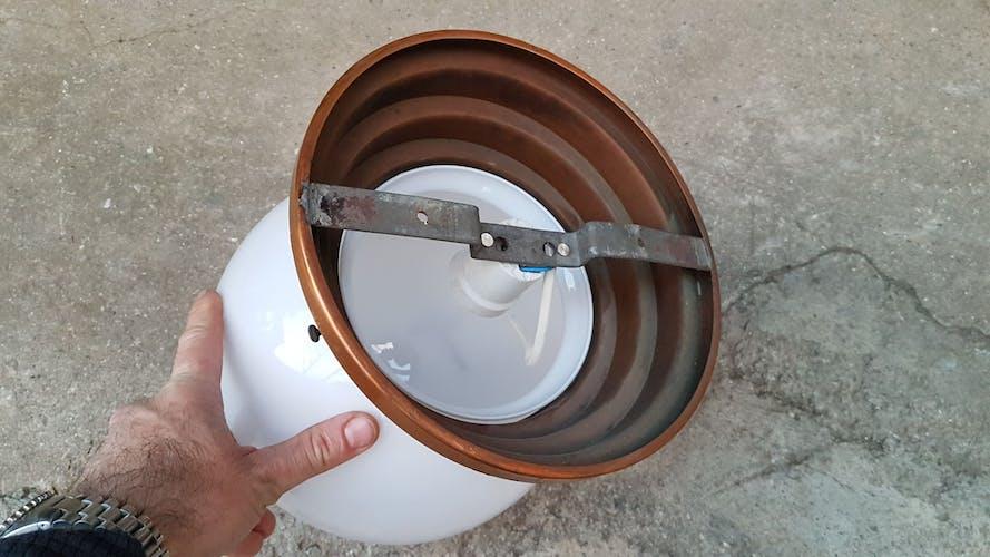 Ceiling light in copper art deco marine