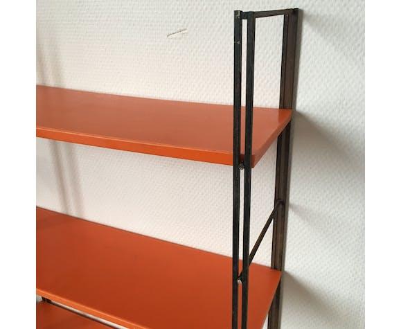 Étagère murale style Tomado orange
