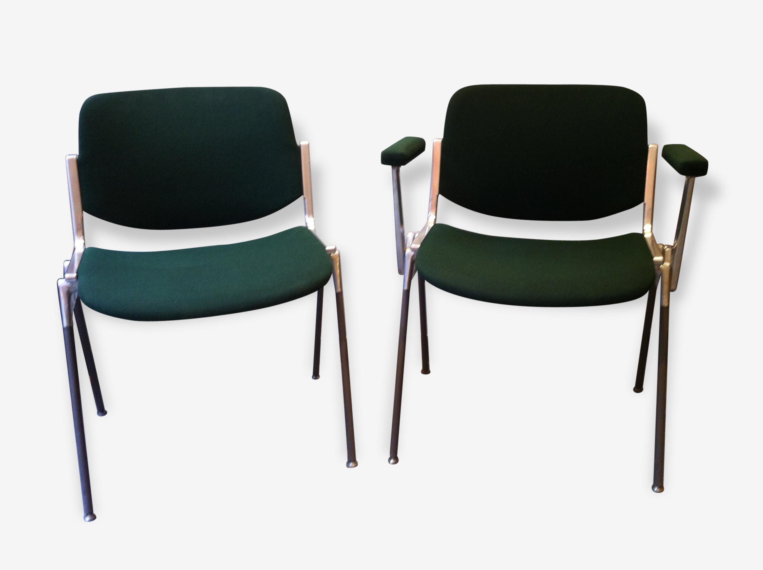 Chaise et fauteuil conférence Castelli mod¨le DSC 106 metal