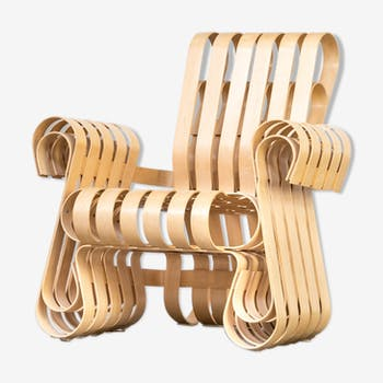 Frank Gehry Power Play armchair for Knoll International 90