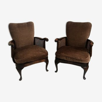 fauteuils vintage et anciens d 39 occasion. Black Bedroom Furniture Sets. Home Design Ideas