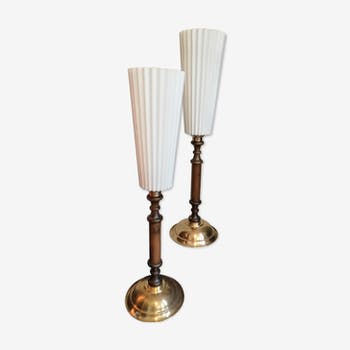 Art Deco style pair of lamps