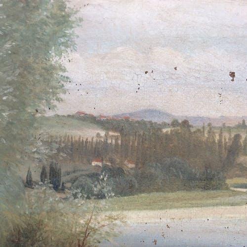 Tableau huile sur toile paysage