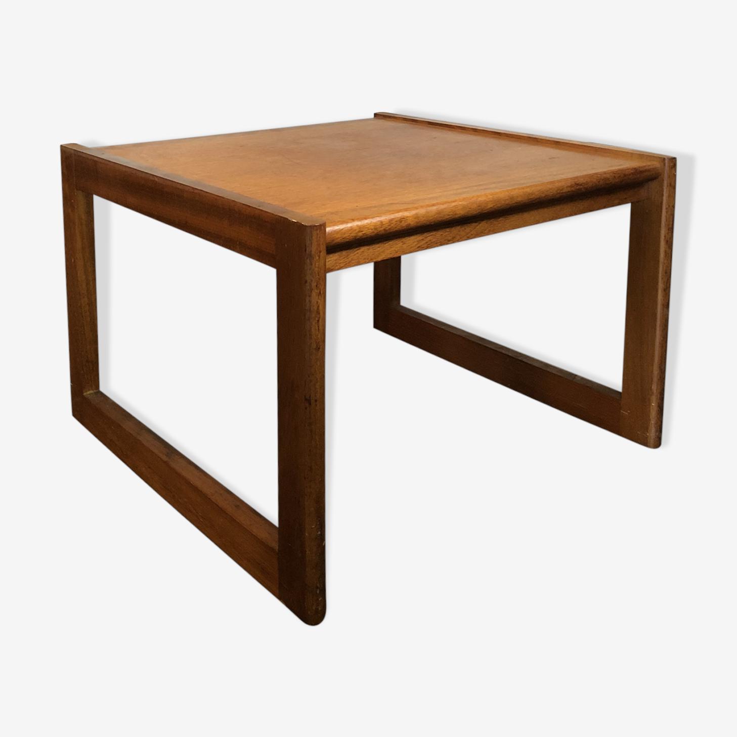 Table basse en teck rétro années 60 design danois