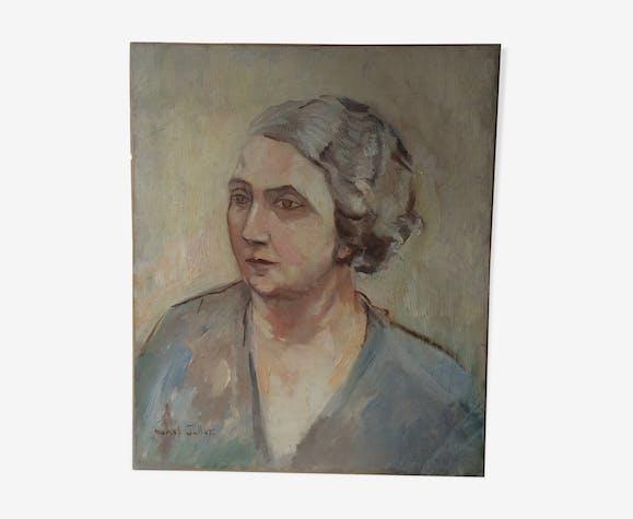 Huile sur toile signée Marcel Edouard Jallot