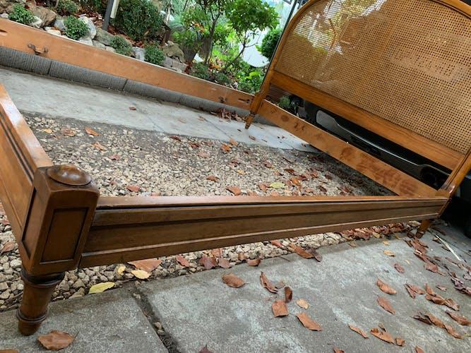 Tête de lit cannage ancienne 160cm