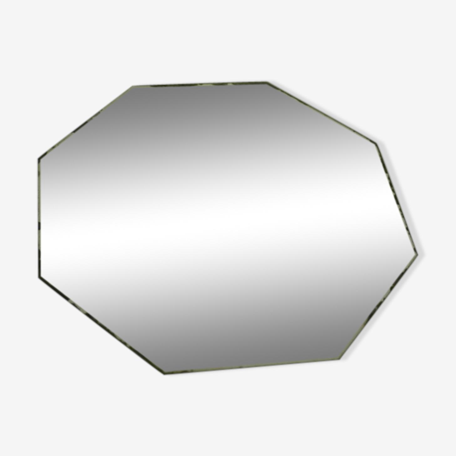 Miroir vintage hexagonal 30 x 30 cm