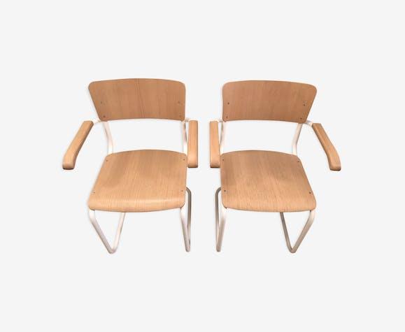 2 chairs Thonet S43 F Mart Stam