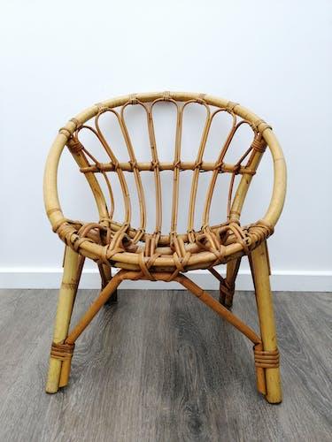 Child rattan armchair