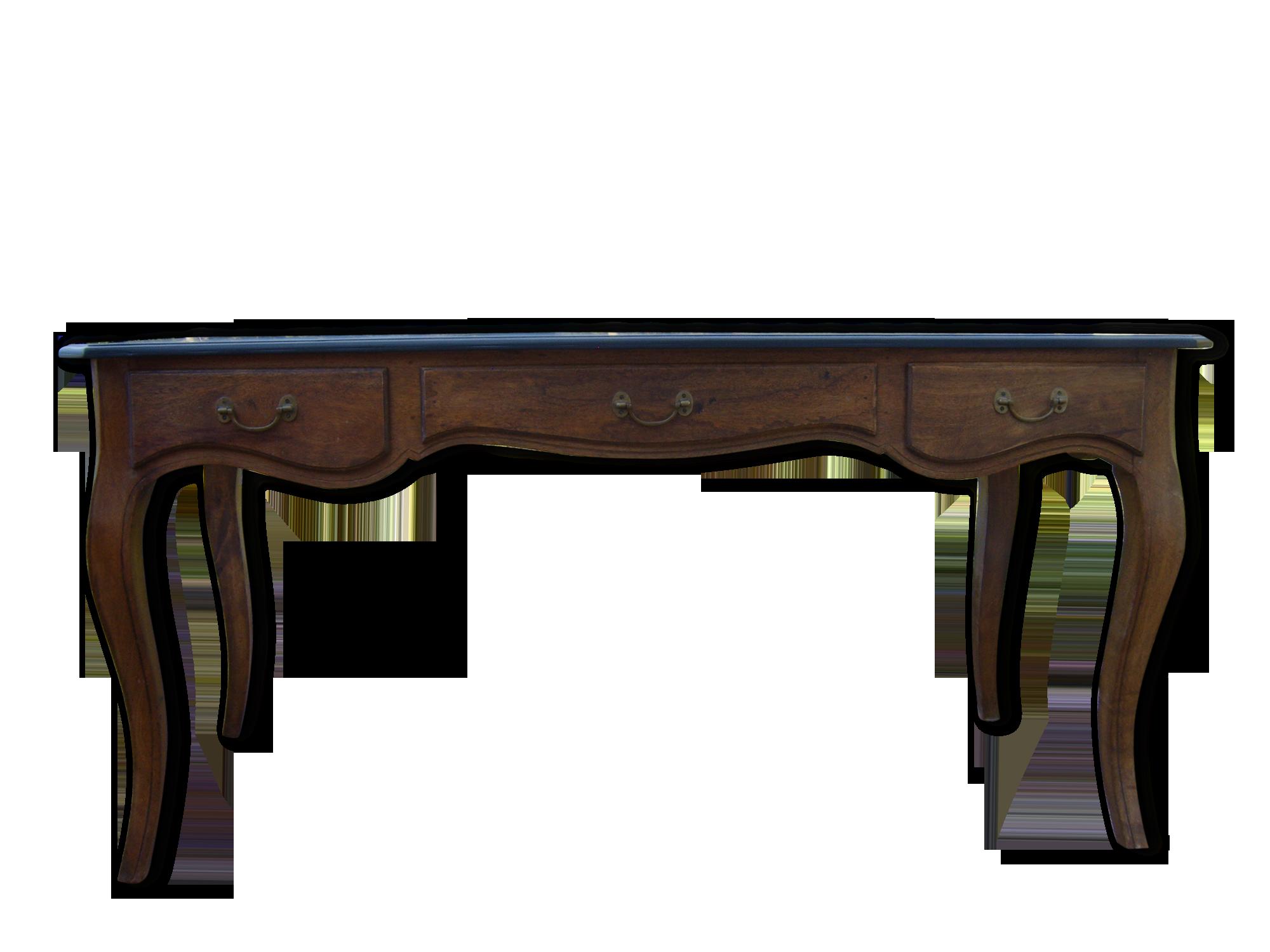 Grand bureau bois matériau noir classique