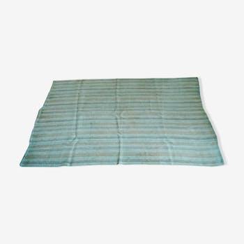 Tapis bleu en chanvre d'origine turc 150 x 195 cm