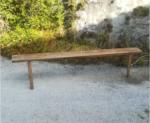 Old wooden bench 215 cm