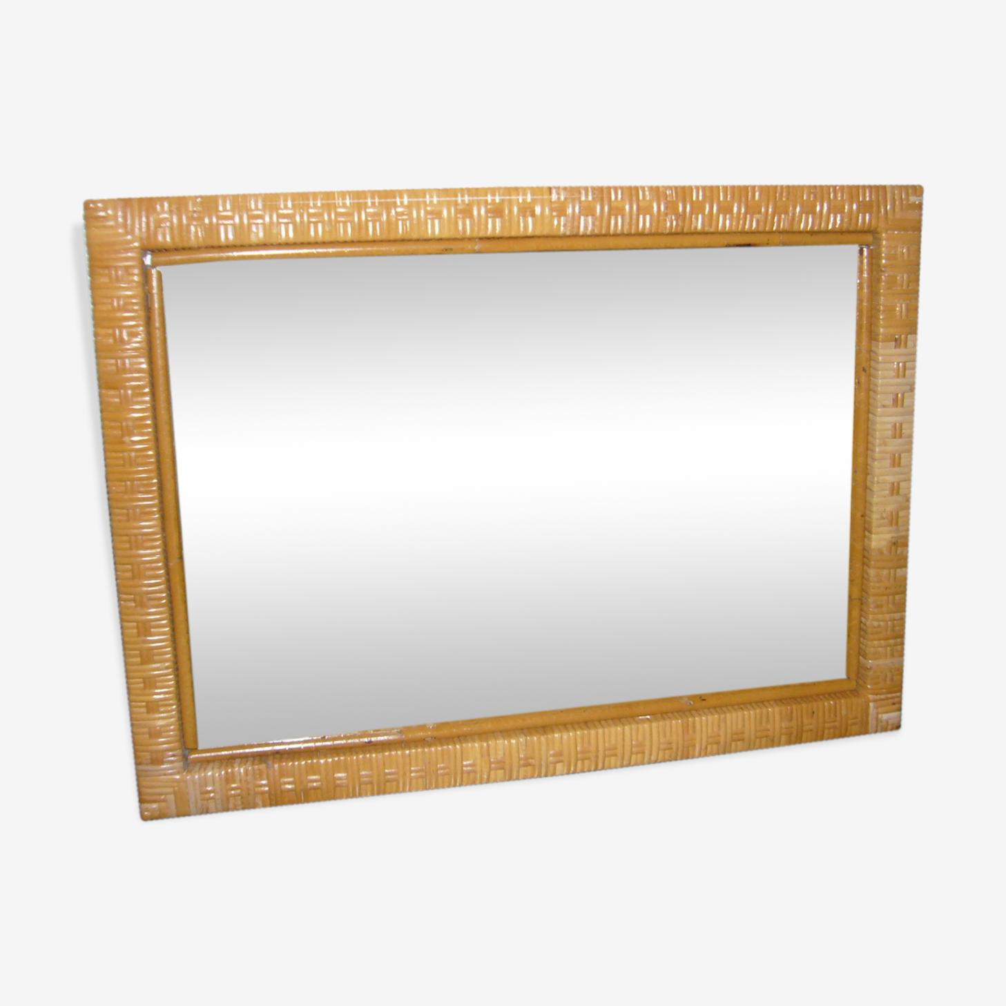 Miroir entourage rotin