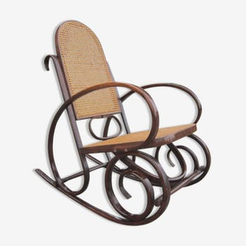 rocking chair bois mat riau bois couleur vintage. Black Bedroom Furniture Sets. Home Design Ideas