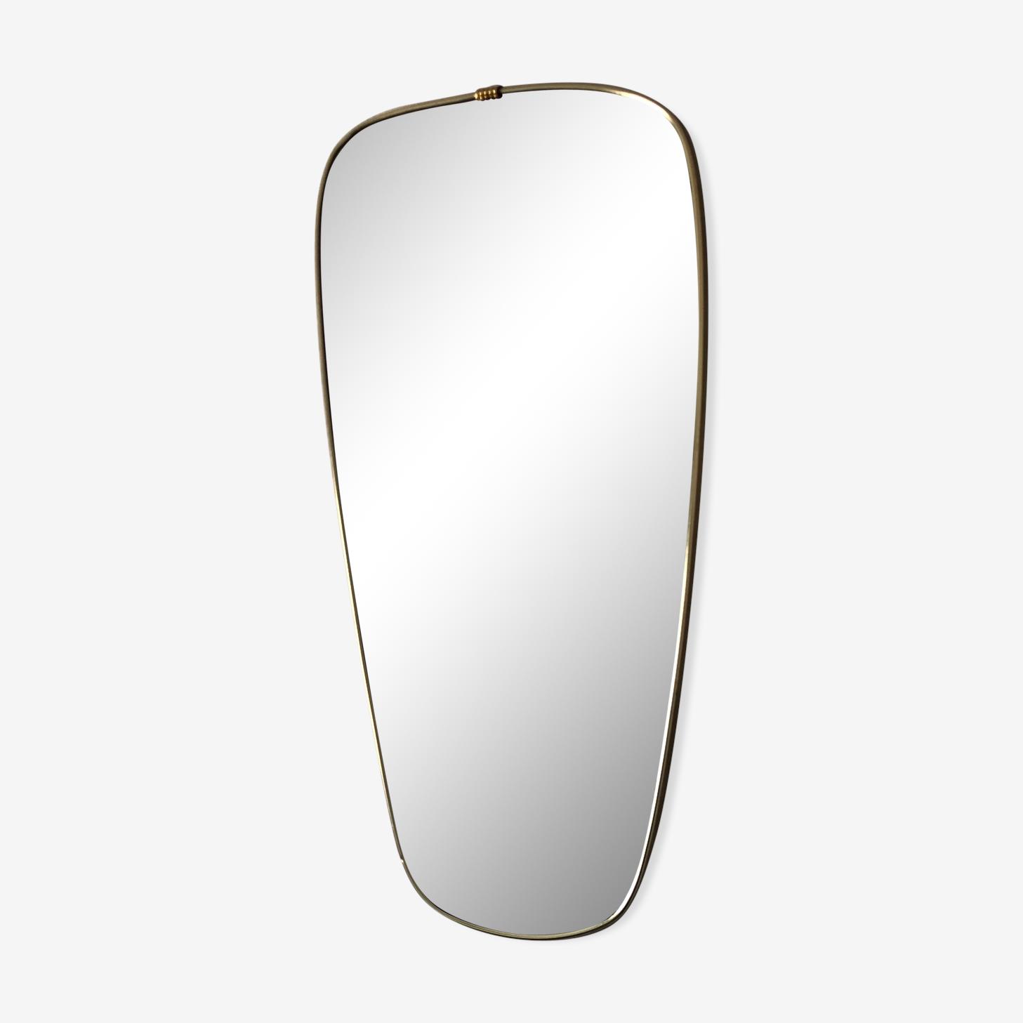 Miroir rétroviseur 60x34cm vintage 1960