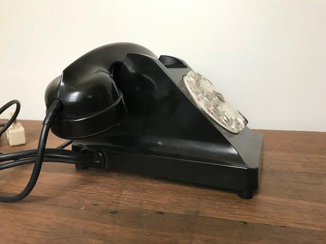 Téléphone bakélite noir
