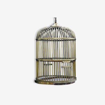 Cage à perroquet en laiton XVIIIème siècle