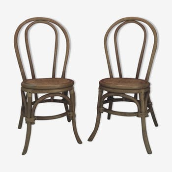 Pair of chairs rattan