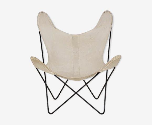 "Chaise ""BKF"" Butterfly  Jorge Ferrari-Hardoy pour Knoll, années 1950"