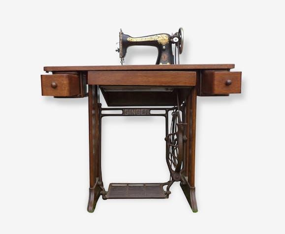 Meuble machine coudre singer bois mat riau bois couleur vintage 74202 - Meuble machine a coudre singer ...