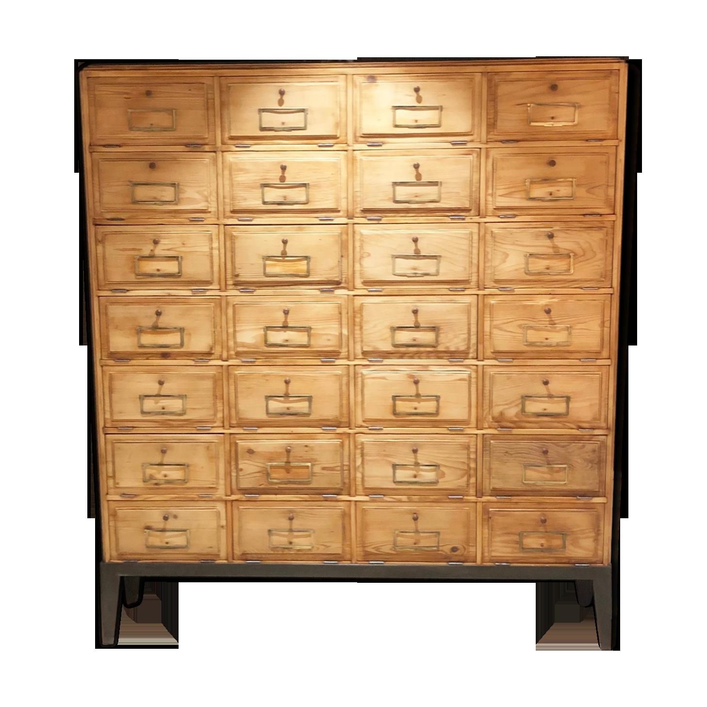 Meuble de notaire bois matériau bois couleur industriel
