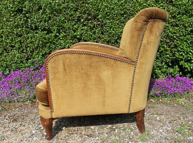 Chauffeuse fauteuil vintage 1950-1960