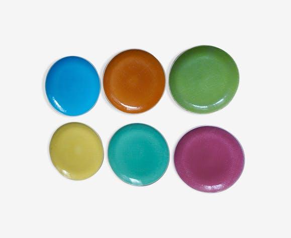 Set de 6 assiettes plate Salins Deauville