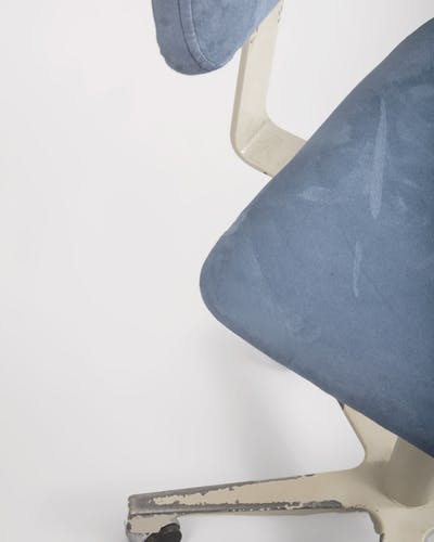 Industrial steel and alcantara swivel chair from Levira, 1970