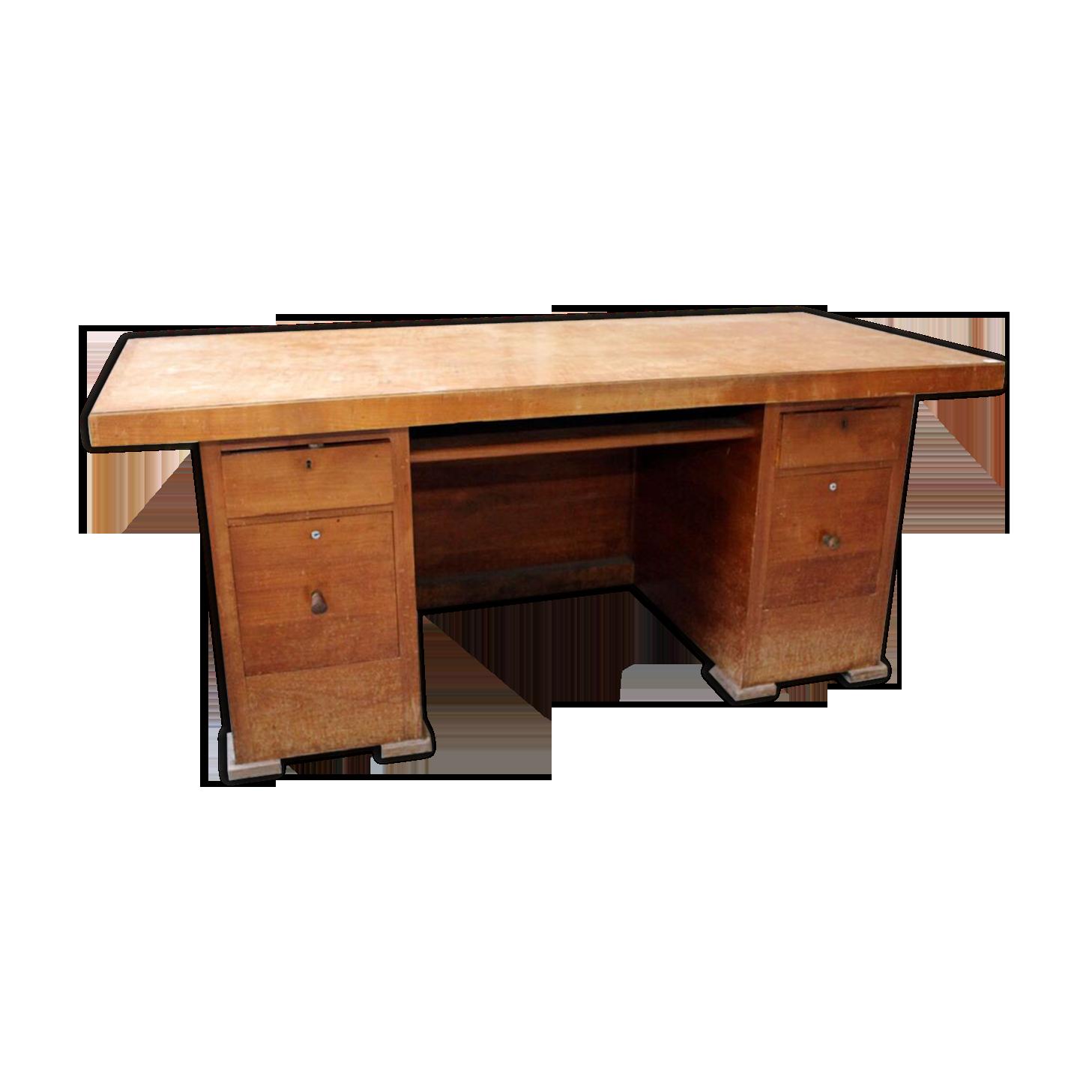 Bureau bois massif bois matériau bois couleur vintage