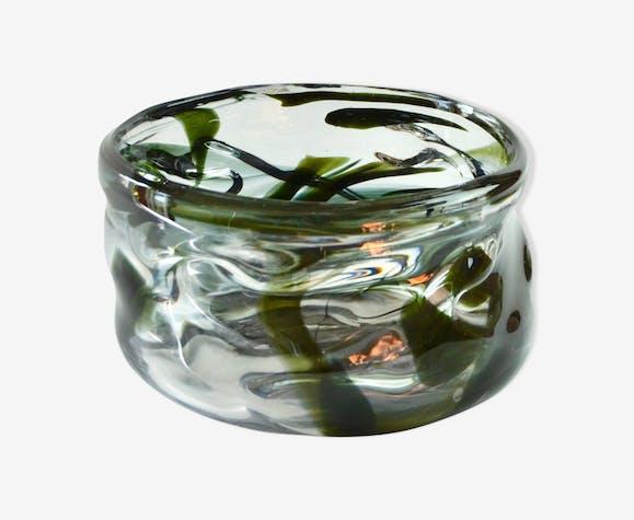 Coupe à fruits en cristal soufflé 1960's
