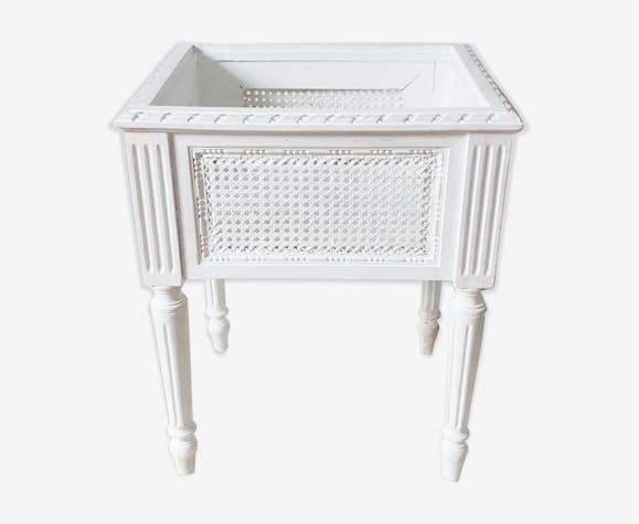 Wooden planter with cane, Louis XVI style