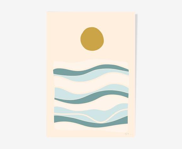 """Illustration """"La mer n°3"""""""