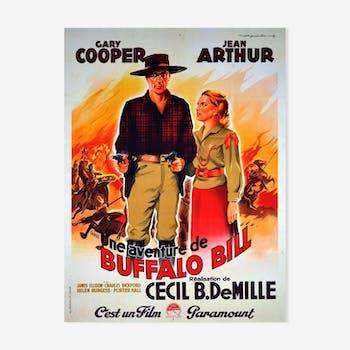 Affiche de cinéma Une aventure de Buffalo Bill