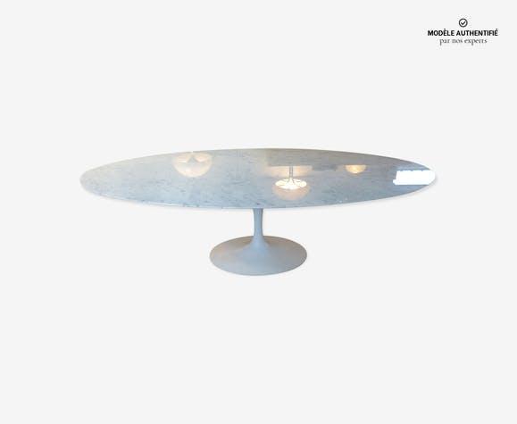 Table Knoll Ovale En Marbre De Carrare 244 Cm Marbre