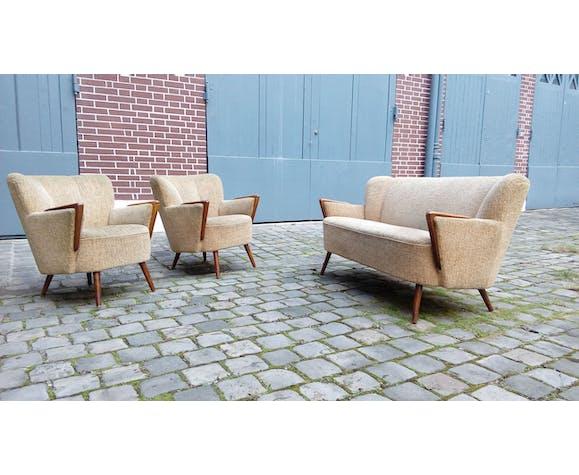 Set 1 1 Scandinavian sofa couch chairs Danish 50s 60s