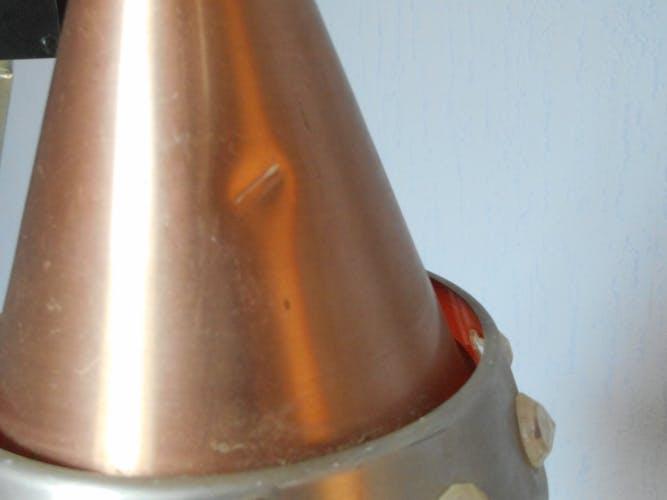 Lustre vintage spoutnik trois feux alu brossé