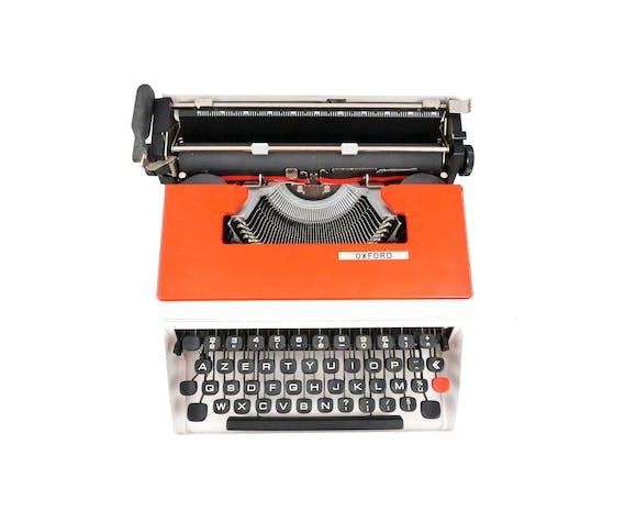 Machine à écrire Oxford Rouge Underwood 315 vintage révisée ruban neuf