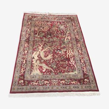 Handmade vintage Oriental rug 180x280cm