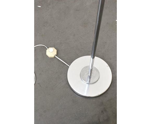 Vintage chrome and glass floor lamp